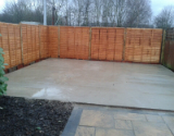 Concrete Patio and New Fence