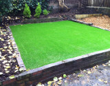 New Artificial Turf in Backyard