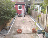 Back Garden With New Flower Beds