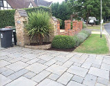renovated front garden London